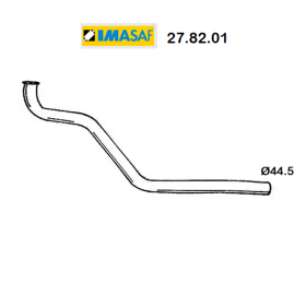 FRONT EXHAUST GAS PIPE FIAT 132 2.0 D IMASAF FOR 4377552